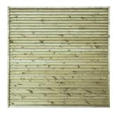 Płot drewniany deskowy żaluzja 180x180x6 naturalny