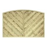 Płot drewniany diagonalny łuk 120x180x4