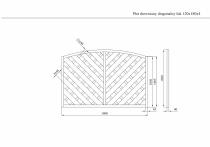 Wymiary płotu diagonalnego 120 x 180 x 4 cm