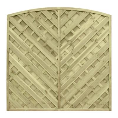 Płot drewniany diagonalny o wymiarach 180x180 cm