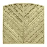Płot drewniany diagonalny łuk 180x180x4