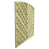 Solidny panel ogrodzeniowy o konstrukcji diagonalnej