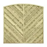 Stylowy płot diagonalny w naturalnym kolorze sosnowym