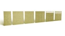 Panele lamelowe drewniane w różnych rozmiarach