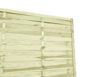 Płot ogrodowy lamelowy z drewna sosnowego 180x180 cm