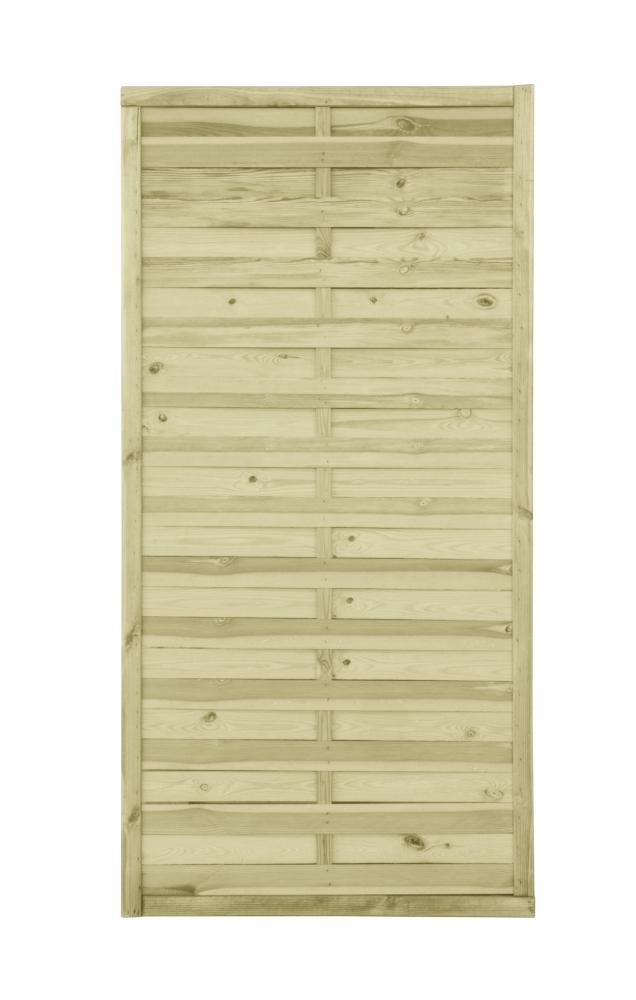 Płot drewniany lamelowy 180x90x2 zielony