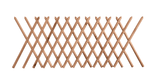 Płot myśliwski w kolorze brązowym o wysokości 100 cm