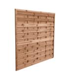 Płot drewniany szczelny 180x180x3,5x4,5 brązowy L10