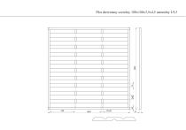 Płot drewniany szczelny 180x180x3,5x4,5 naturalny L9,5