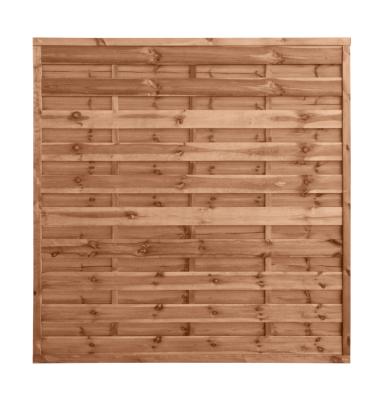 Płot drewniany szczelny w kolorze brązowym impregnowany ciśnieniowo