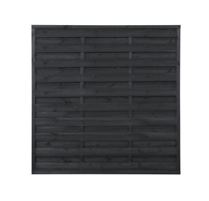 Płot drewniany szczelny 180x180x3x4,5 grafit L10