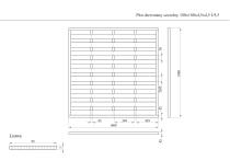 Płot drewniany szczelny 180x180x4,5x4,5 naturalny L9,5