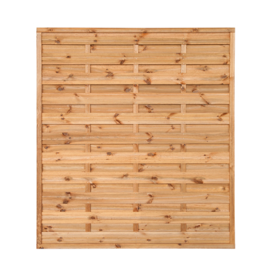 Płot drewniany szczelny 180x200x4,5x4,5 brązowy L10,5