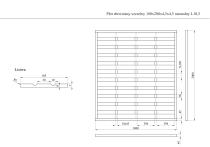 Płot drewniany szczelny 200x180x4,5x4,5 naturalny L10,5