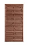 Płot drewniany szczelny 180x90x3,5x4,5 brązowy L10