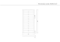 Płot drewniany szczelny 180x90x3,5x4,5 brązowy