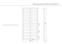 Płot drewniany szczelny 180x90x3,5x4,5 naturalny L9,5