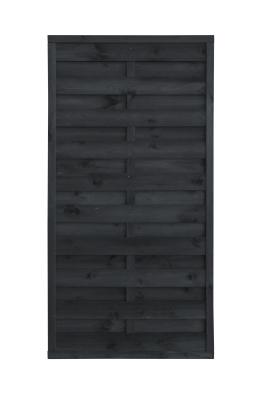 Płot drewniany szczelny 180x90x3x4,5 grafit L10