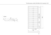 Płot drewniany szczelny 200x90x4,5x4,5 naturalny L10,5