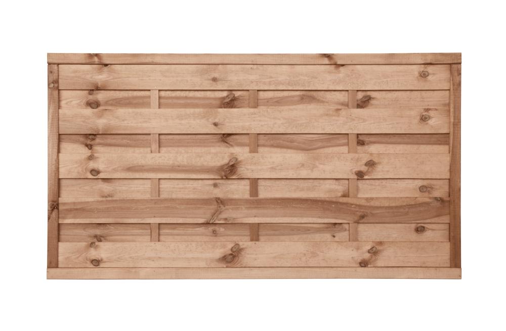 Płot drewniany o wysokości 90 cm - kolor brązowy