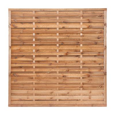 Płot drewniany szczelny 180x180x3,5x4,5 brązowy L60
