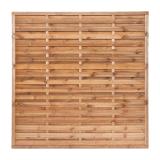 Płot drewniany szczelny 180x180x3,5x4,5 brązowy L6