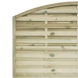 Płot drewniany szczelny łuk 180x180x3,5x4,5