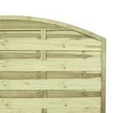 Estetycznie wykonane panele ogrodzeniowe z łukiem