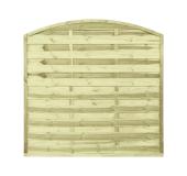 Płot drewniany szczelny łuk 180x180x3x4,5 naturalny L10
