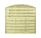 Płot drewniany szczelny łuk 180x180x3x4,5