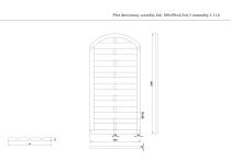 Płot drewniany szczelny łuk 180x90x4,5x6,5 naturalny L11,6
