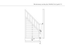 Płot drewniany szczelny skos 180x90x3,5x4,5 grafit L7,5