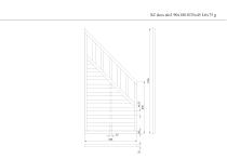 Płot drewniany szczelny skos 180x90x3,5x4,5 L6 grafitowy