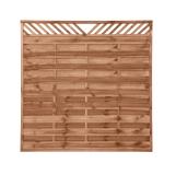 Płot drewniany szczelny  V 180x180x3,5x3,5