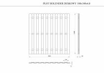 Dokładne wymiary płotu: 180 x 180 x 4,8 cm