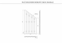 Wysokość płotu: 120-180 cm