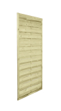 Doskonały do ogrodu płot drewniany lamelowy 180x90 cm