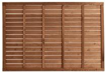 Płot lamelowy ażur 120x180x3,5x5,5 brązowy