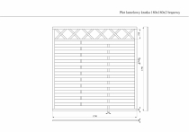 Wymiary płotu lamelowego brązowego 180x180 cm
