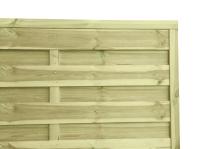 Płot drewniany szczelny impregnowany ciśnieniowo