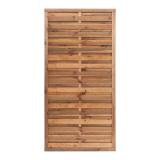Płot drewniany szczelny 180x90x3,5x4,5 brązowy L6