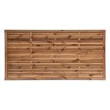 Płot drewniany szczelny 90x180x3,5x4,5 brązowy L6
