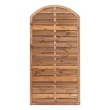 Płot  drewniany szczelny łuk 180x90x3,5x4,5 brązowy L6