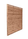 Brązowy płot drewniany żaluzja w grubej ramie (6 cm)