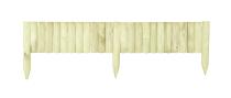 Drewniany płotek ogrodowy o wymiarach 120 x 20 cm