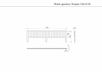 Płotek trawnikowy WAMPIR 120x35/20