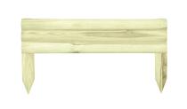 Konstrukcja płotka to trzy poziome półpalisady i dwie sztachety do wbijania