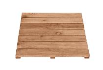 Drewniany podest brązowy o wymiarach 50 x 50 cm