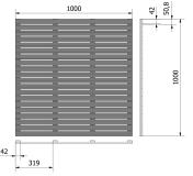 Podest tarasowy 100x100x2,4 rysunek techniczny