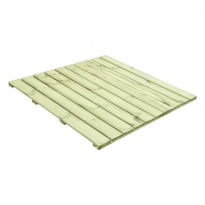 Podest drewniany o wymiarach 100x100 cm w kolorze sosnowym